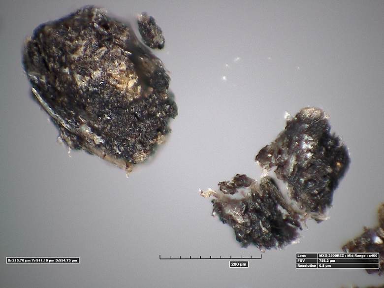 Photomicrograph of Black Particles