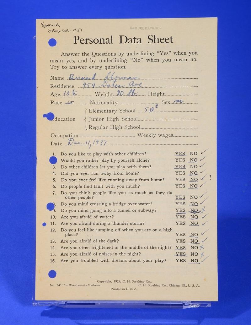 Leaflet, Woodworth-Matthews Personal Data Sheet | Smithsonian ...