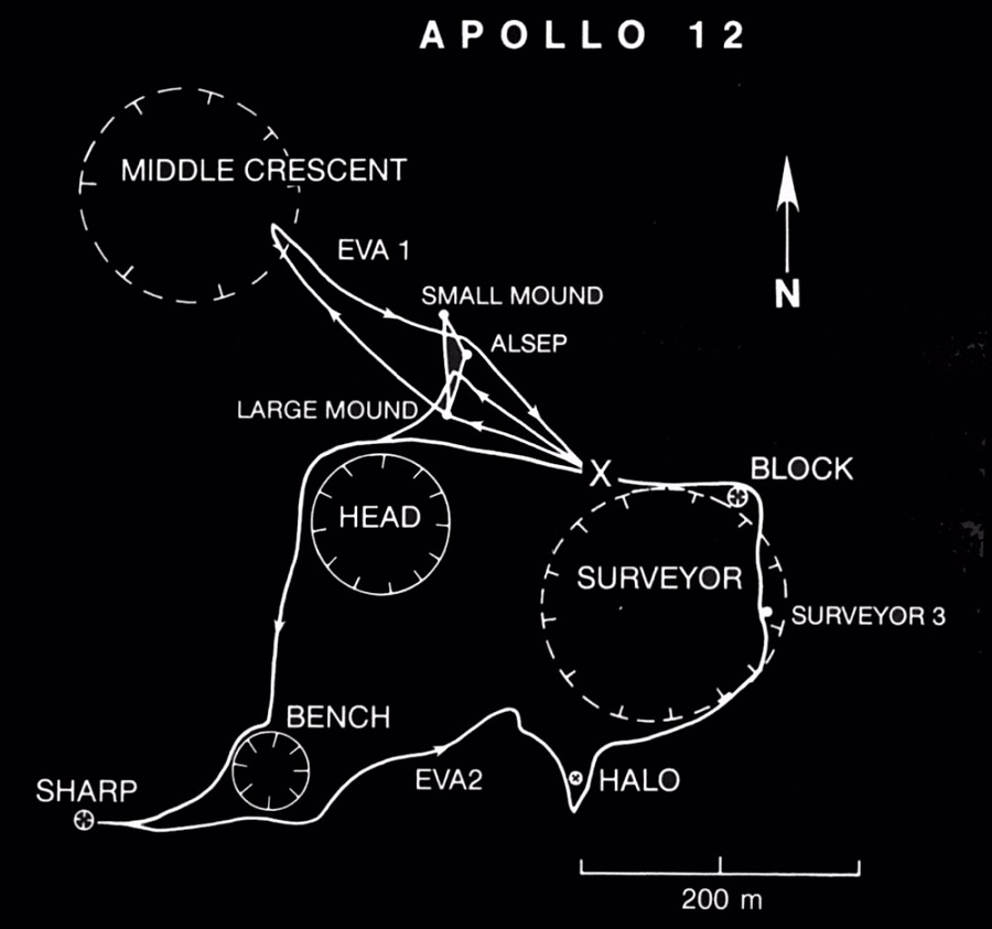 Apollo 12 Traverses