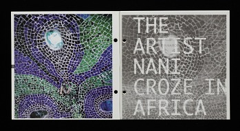 Photo of Artist book: The artist Nani Croze in Africa, by Nani Croze, 1998. Pages 23-24. African Art Museum artists' books exhibit research image