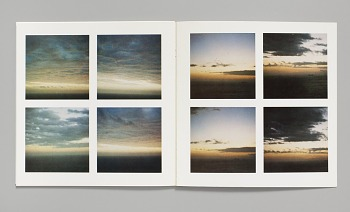 Photo of Artist book: Sunrise and sunset at Praiano, by Sol Lewitt, 1980.