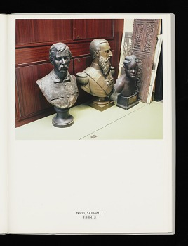Photo of Artist book: Desire in representation by Peggy Buth, 2008. No. 33 Single Page. African Art Museum artists' books exhibit research image.