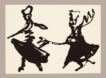 Photo of Artist book: Nadimé : approche du derviche-tourneur en dix lithographies by Toufik Berramdane with text of Frédéric Brandon, 1992. Whirling Dervishes. African Art Museum artists' books exhibit research image.