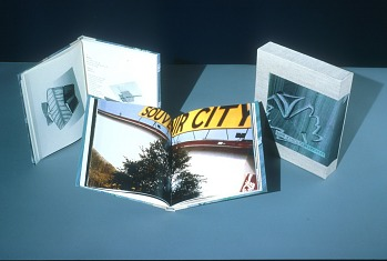 Photo of Artist book: Bird Wing and Plain Planes by John Wood, 1994.