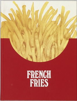 Photo of Artist book: French fries : a new play written by Dennis Bernstein, Warren Lehrer; designed by Warren Lehrer, 1984.