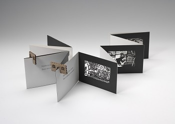 Photo of Artist book: Hansel and Gretel: a shadow theatre book by Virginia Flynn, 2013.