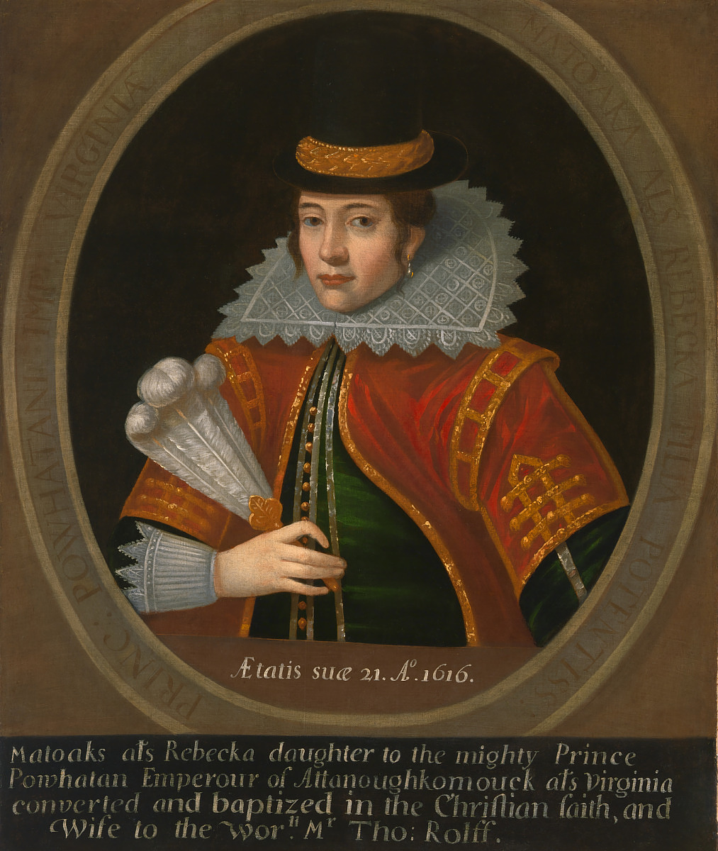 The true story of Pocahontas in art history: Pocahontas, 1616,