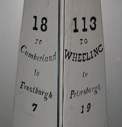 National Road Milepost, about 1840