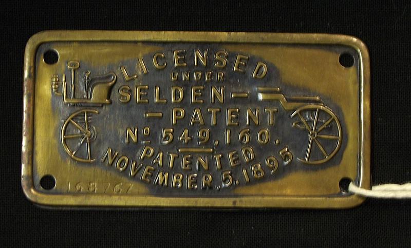 Selden patent plate