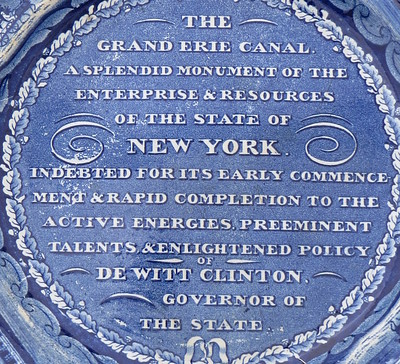 Plate, Erie Canal