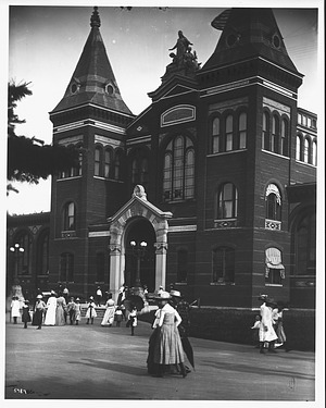 Visitors in Front of the U. S. National Museum at the Turn of Century