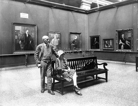 Edwin B. Child, Artist, at Portrait Exhibition