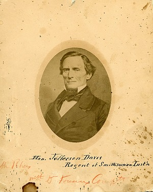 Jefferson Davis, by Unknown, c. 1855, Smithsonian Archives - History Div, SA-464 or 2002-32234.