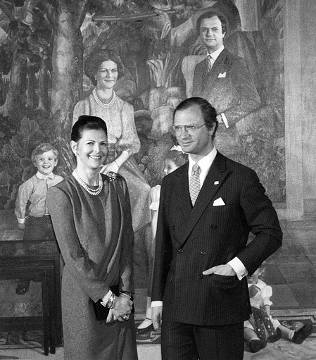 King Gustav and Queen Silvia of Sweden at the NPG