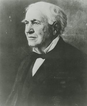 Thomas Alva Edison, by Avino, Mark, c. 1920s, Smithsonian Archives - History Div, 2002-3813.