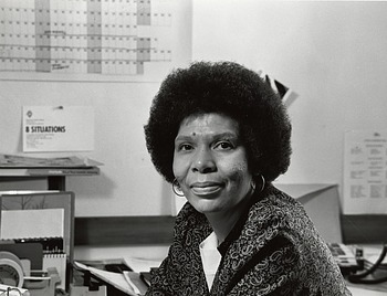 Zora Martin Felton at work, by Unknown, 1983, Smithsonian Archives - History Div, 2003-19552.