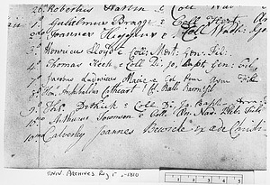 Pembroke College Matriculation Register