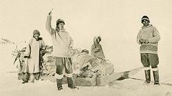 Arnarulunguak, Rasmussen and Miteq Leaving Point Barrow, Alaska