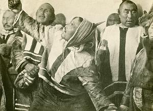 Eskimo Dance Ritual, by Hansen, Leo, 1924, Smithsonian Archives - History Div, 2005-8641.