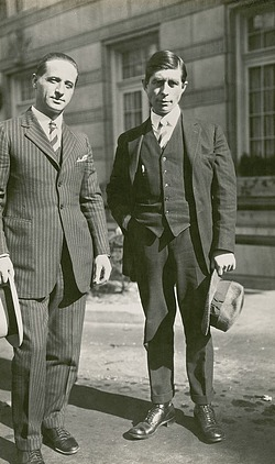 Leo Hansen and Knud Rasmussen, by Unknown, 1924, Smithsonian Archives - History Div, 2005-8649.
