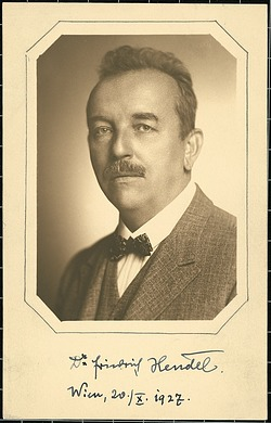 Dr. Friedrich Hendel, 1927, Smithsonian Archives - History Div, 2006-3057.
