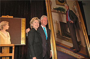 Clintons Unveil Portraits, April 24, 2006, Smithsonian Archives - History Div, 2006-7075.