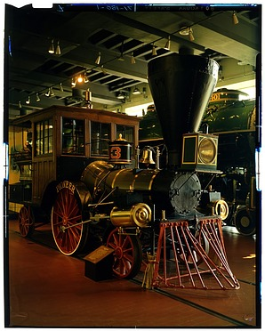"""""""Pioneer"""" Locomotive, 1971, Smithsonian Institution Archives, SIA Acc. 11-009 [71-180-1]."""