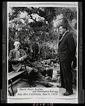 Photograph of David Starr Jordan and Remington Kellogg, Palo Alto, California, 1929