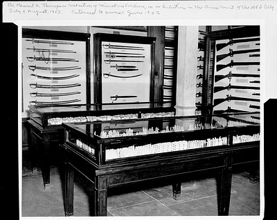 Miniature Soldiers on Display, July-August 1953, Smithsonian Archives - History Div.