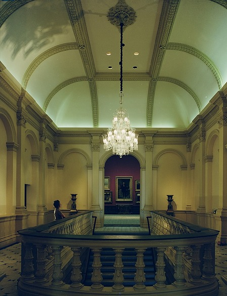 Stairway of the Renwick Gallery, by Unknown, c. 1971, Smithsonian Archives - History Div, 72-3478.