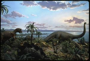 Jurassic Diorama at National Museum of Natural History