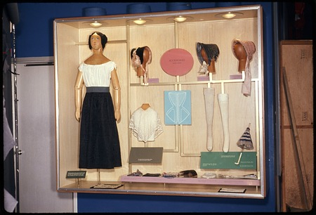 Costume Hall Exhibit Case, 1973, Smithsonian Institution Archives, SIA Acc. 11-009 [73-5212].