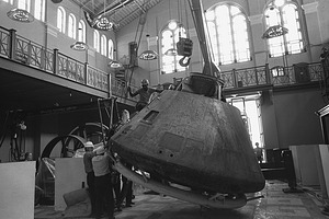 Apollo 11 Command Module Moving Out of A&I