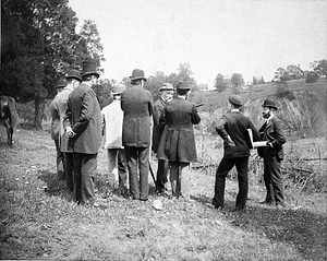 Secretary Langley with Others Survey Zoo Grounds