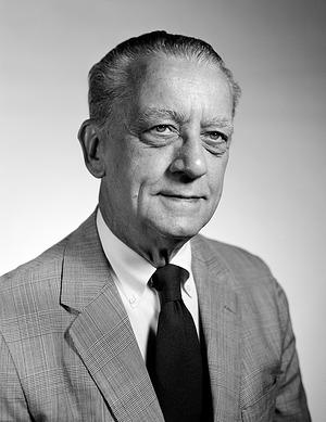 Franklin B. Bruns, Jr, by Unknown, c. 1975, Smithsonian Archives - History Div, 75-6028.