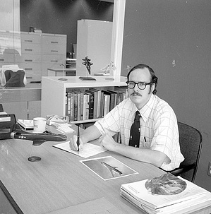 Richard Hallion, by Unknown, 1975, Smithsonian Archives - History Div, 75-7105-11.
