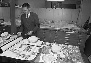 Herbert Collins, by Hofmeister, Richard K, 1976, Smithsonian Archives - History Div, 76-13488-18.