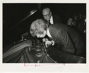 Henry Steinway and Van Cliburn Inspect Paderewski Piano