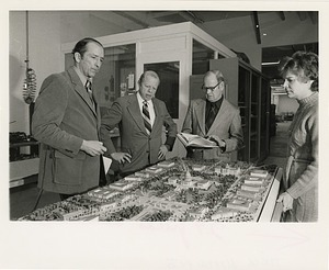 """Unveiling of Model for """"The Federal City: Plans and Realities"""" Exhibition at the Smithsonian Institution Building, or Castle"""