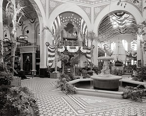 "Rotunda, A&I Building, Decorated for ""1876: A Centennial Exhibition"""