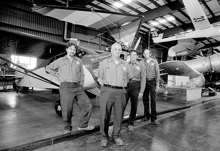 NASM Staffers with Aircraft