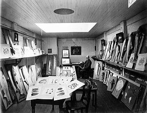 John H. Richard's Studio with Casts for Fisheries Exposition