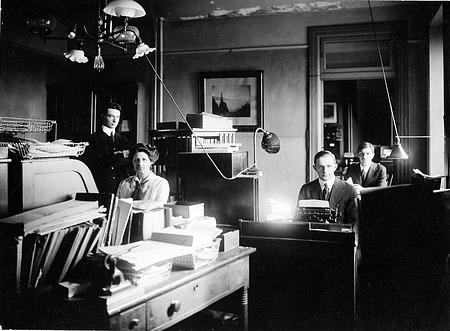 Publication Room Staff, February 1915