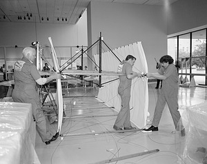 Wright Flyer Restoration, by Unknown, 1985, Smithsonian Archives - History Div, 85-9004-5.
