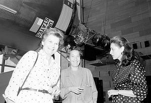 Valentina Tereshkova and Mary Cleave at NASM