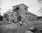 Construction of Lion House at NZP, by Bell, C.M, 1891, Smithsonian Archives - History Div, 88-7631.