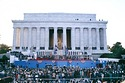 1989 George H. W. Bush Presidential Inauguration, Opening Ceremonies at Lincoln Memorial, January 1989