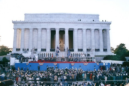 1989 George H. W. Bush Presidential Inauguration, Opening Ceremonies at Lincoln Memorial, January 19