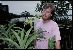 Jess K. Zimmerman with Plant Specimens, Panama, STRI