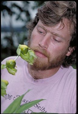 Jess K. Zimmerman with Plant Specimens, Panama, STRI